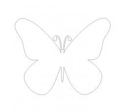 Tauriņi, baltā krāsā (10 gab./ XL)
