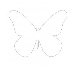 Tauriņi, baltā krāsā (20 gab./ XS)