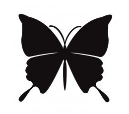 Tauriņi, melna krāsā (20 gab./ S)