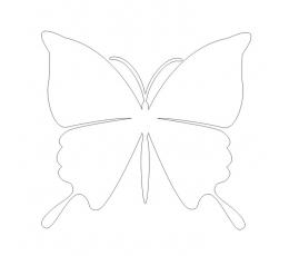 Tauriņi, perlamutra baltā krāsā (20 gab./ L)