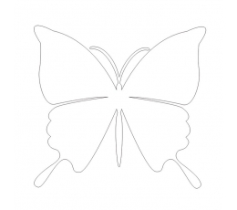 Tauriņi, perlamutra baltā krāsā (20 gab./ S)