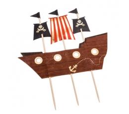 """Tortes dekorācijas """"Pirātu laivas"""" (17x21 cm)"""