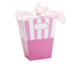 Uzkodu kastes, rozā, svītrainas (2 gab.)