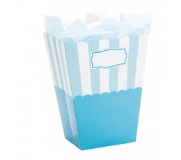 Uzkodu kastes, zilas, svītrainas (2 gab.)