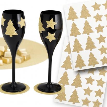 """Uzlīmes """"Zelta zvaigznītes"""" (40 gab/ 3 cm)"""