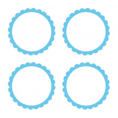Uzlīmes, zilas (20 gab)