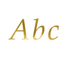 """Uzlīmju komplekts """"Burti"""", zelta krāsā (143 gab. / 21 x 29 cm)"""