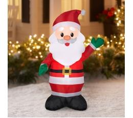 """Uzpūšama,  izgaismota dekorācija """"Ziemassvētku vecītis"""" (65x55x120 cm / 3 LED)"""