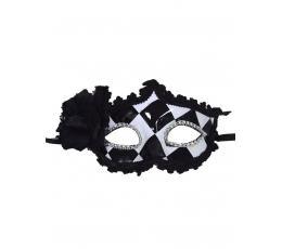 Venēcijas maska, melnbalta