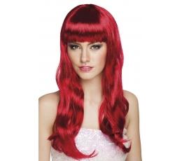 Viļņainu matu parūka, sarkana