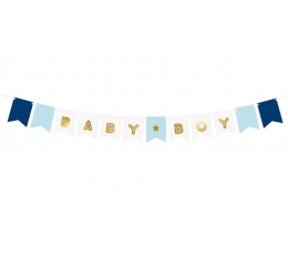 """Virtene """"Baby boy"""", zila-zelta (1,6 m)"""