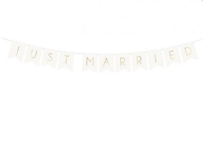 "Virtene ""Just Married"", balta-zelta (1,55 m)"