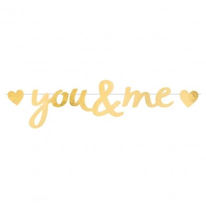 """Virtene """"You&Me"""",zelta (92x20 cm)"""
