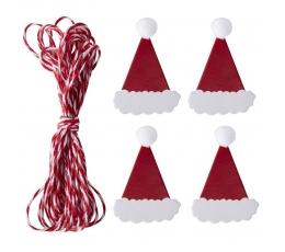 """Virvīte ar koka knaģīšiem """"Ziemassvētki"""" (3 m)"""