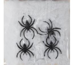 Zirnekļa tīkls ar zirnekļiem, balts (500 g.)