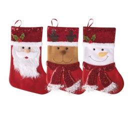 """Ziemassvētku zeķe """"Priecīgus Ziemassvētkus"""" (24x37 cm)"""