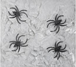 Zirnekļa tīkls ar zirnekļiem, balts (20 g.)
