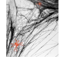 Zirnekļa tīkls ar zirnekļiem, melns (60 g)