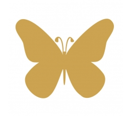 Бабочки, золотой  (20 шт. / Л)