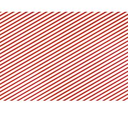 Бумага для упаковки подарков, красно-белая, в полоску (70 x 200см)