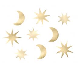 """Бумажные декорации """"Звездное небо"""" (9 шт)"""