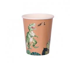 """Бумажные стаканчики """"Джунглевые Динозавры"""" (8 шт/255 мл)"""