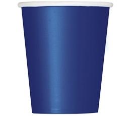 Бумажные стаканчики, темно синие (14 шт/270 мл)