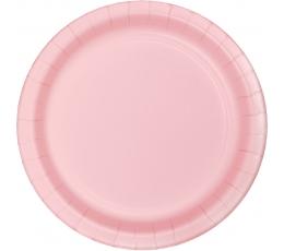 Бумажные тарелки, светло розовые (8 шт/22 см)