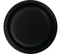 Бумажные тарелочки, черные (24 шт/ 22 см)