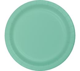 Бумажные тарелочки, мятного цвета (8 шт/22 см)