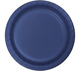 Бумажные тарелочки, темно синие (20 шт/17 см)