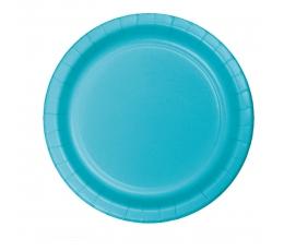 Бумажные тарелочки, цвета океана (8 шт/22 см)