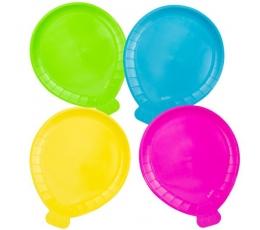 """Бумажные тарелочки в форме шариков """"Neon party"""" (8 шт/20 х 24 см)"""