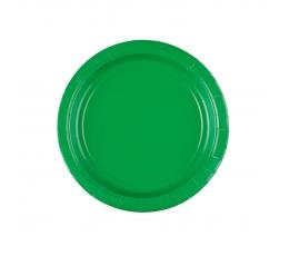 Бумажные тарелочки, зеленые (8 шт/17 см)