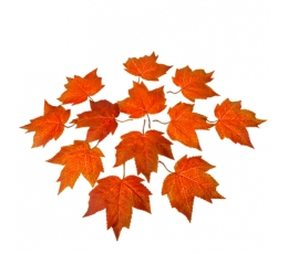 Декоративные кленовые листья (12 штук / 14 см)