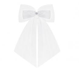 Декоративные ленты для машины, белые (2 шт/ 14 см)