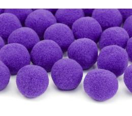 Декоративные плюшевые шарики, фиолетовые (2 см/ 20 шт)