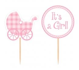 """Декоративные шпажки """"It's a girl"""" (12 шт)"""