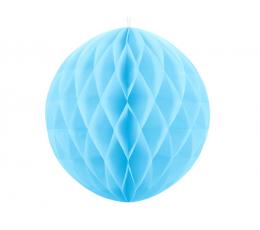 Декоративный бумажный шар, голубого цвета (30 см)