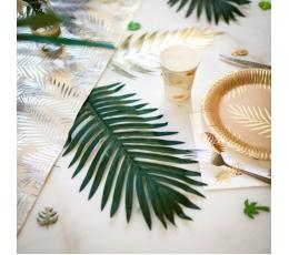 Декоративный лист пальмы с стеблем  (35x21 cm)