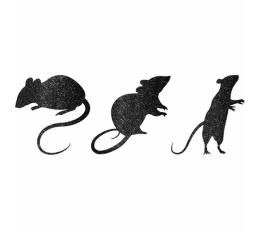 "Декорации ""Мышки"",блестящие   (9 шт)"
