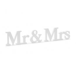 """Деревянные буквы """"Mr&Mrs"""", белые (9,5 х 45 см)"""