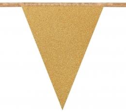 Флажки, золото - блестящая (6 м)