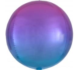 Фольгированный шарик орбз, красно-сине омбре (38 см)