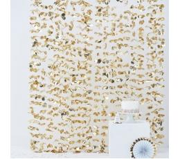 Фольгированные занавески -цветы, золотые (2 м/ 1,7 м)