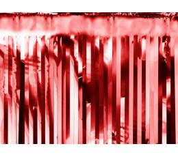Фольгированная гирлянда/ дождик, красный (18,5 х 400 см)