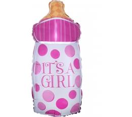 """Фольгированный шарик """"It's a girl"""" (25x58 см)"""