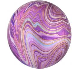 Фольгированный шарик марблс, фиолетовый (38х40 см)