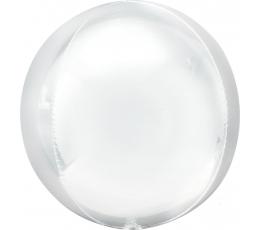 """Фольгированный шарик """"Orbz"""", белого цвета (38х 40 см)"""