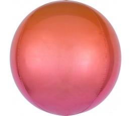 Фольгированный шарик орбз, красно-оранжевый омбре (38 см)